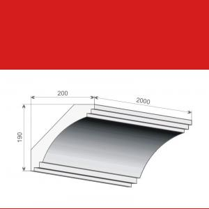Deckenzierleiste FE2 - 19 cm