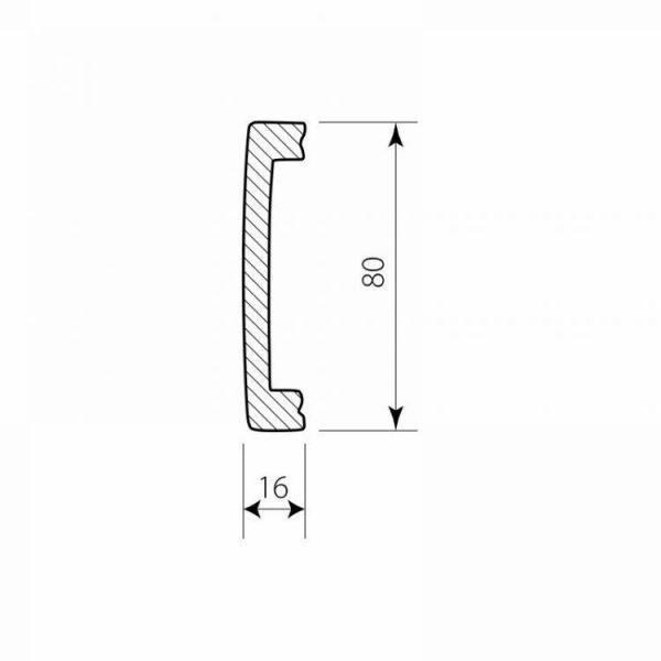 Fußleiste Polymer DSP09